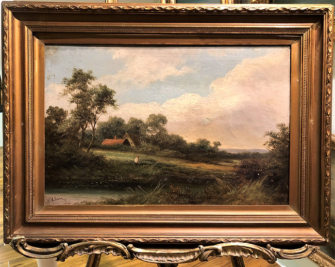OLD MASTER CIRCLE of JOHN CONSTABLE FINE OIL PAINTING 19th CENTURY GOLD