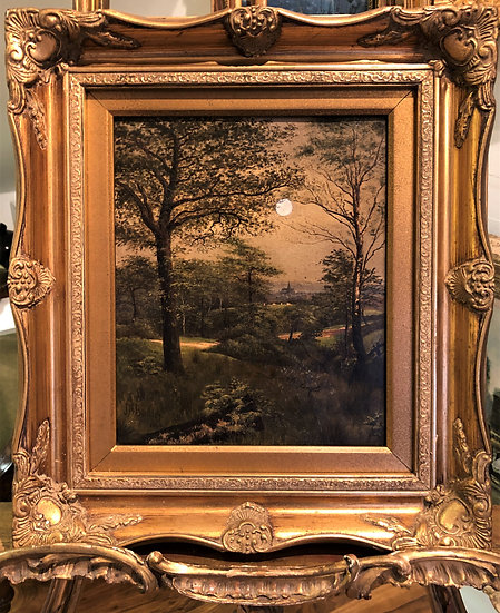 OIL PAINTING Antique 19th Century By Listed artist dated 1882
