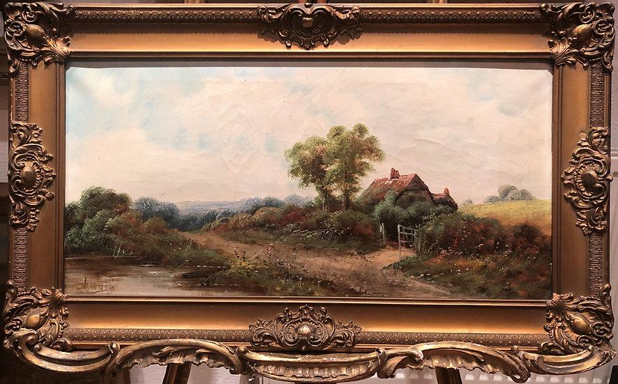 FINE LARGE Original 19th Century British OLD MASTER OIL PAINTING Romanti
