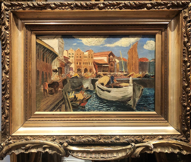 OLD MASTER OIL PAINTING ITALIAN SCHOOL Early 1900's Gold Frame