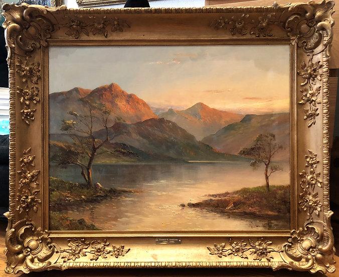 Fine Large Original Antiqe 19th Century British OLD MASTER OIL PAINTING SCOTLAND