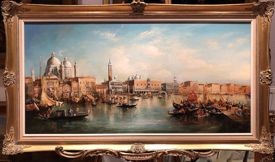 OIL PAINTING LARGE VENICE MASTER MEDIUM CIRCA  MID 20TH CENTURY RUSSIAN SCHOOL