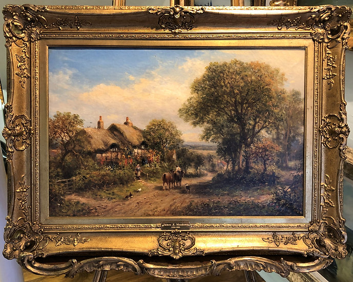 OLD MASTER By JAMES E .MEADOWS High Quality 19th CENTURY OIL PAINTING