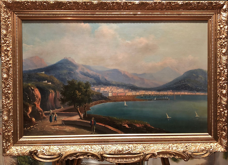 OLD MASTER ITALIAN SCHOOL LARGE OIL PAINTING EARLY 19th CENTURY GOLD FRAME