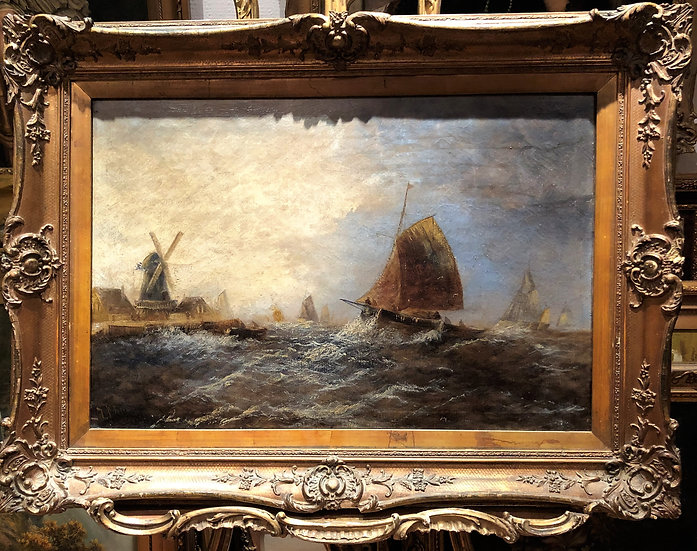 OLD MASTER CIRCLE of JOSEPH MALLORD WILLIAM TURNER OIL PAINTING 19th CENTURY GGF