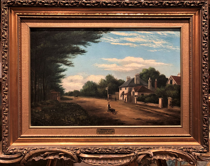 "OIL PAINTING HISTORY BOSCOME BOURNEMOUTH ""1855 ""By ARTIST ""W .STEVEN """