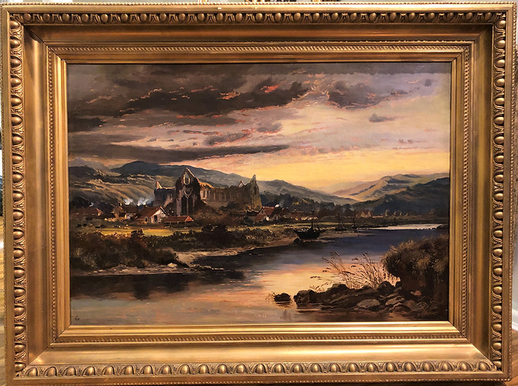 HUGH OIL PAINTING Antique 19th Century Fine Quality Piece of Winds