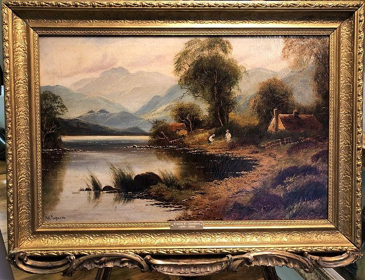 LARGE FINE F E.Jamieson Antique 19th Century British OLD MASTER OIL PAINTING