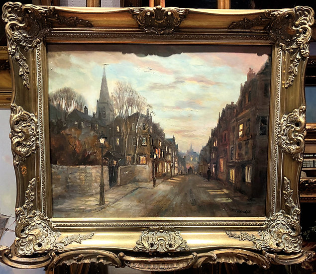 OIL PAINTING OF LONDON By M . J . RENDALL MID 20th CENTURY IMPRESSIONISM STYLE