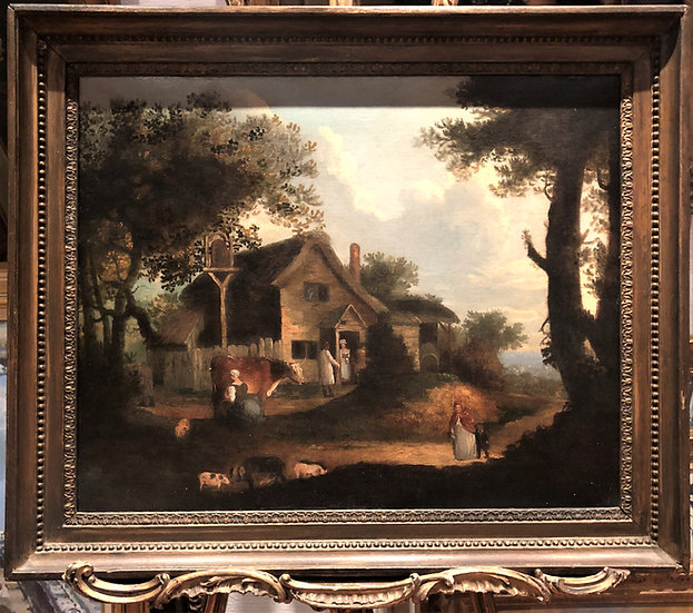 LARGE OLD MASTER OIL PAINTING 18th CENTURY 1700's In a NEO CLASSICAL FRAME