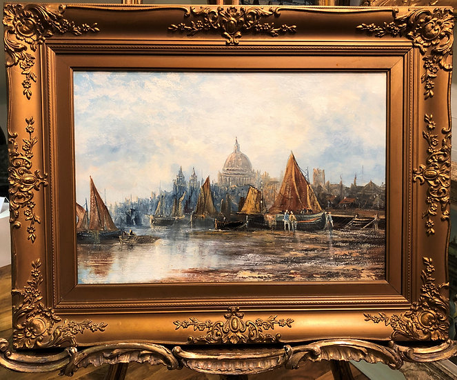 OLD MASTER OIL PAINTING BRITISH SCHOOL 19th Century Gold Frame