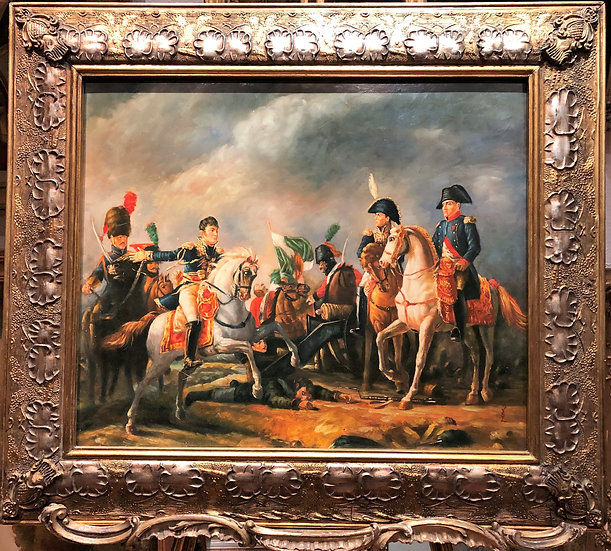 FINE LARGE OIL PAINTING ( FRENCH ADMIRALTY ) NAPOLEON WAR PIECE 20th CENTURY