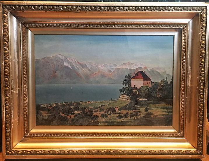LD MASTER 19th CENTURY STUNNING DETAILED OIL PAINTING IN A GOLD GILT FRAME