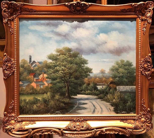 "OIL PAINTING IN FINE GOLD GILT FRAME ""Old French master style"" Beautiful"