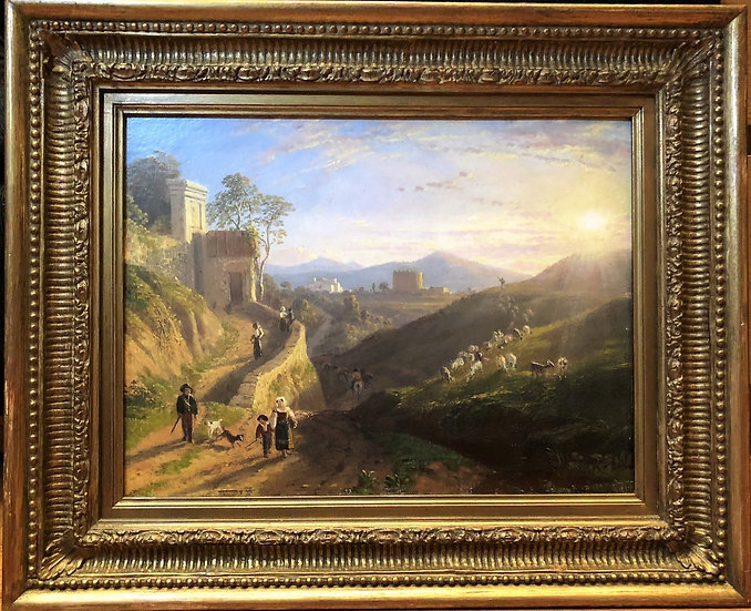 OLD MASTER OIL PAINTING 18th CENTURY French School FINE DETAIL GOLD GILT