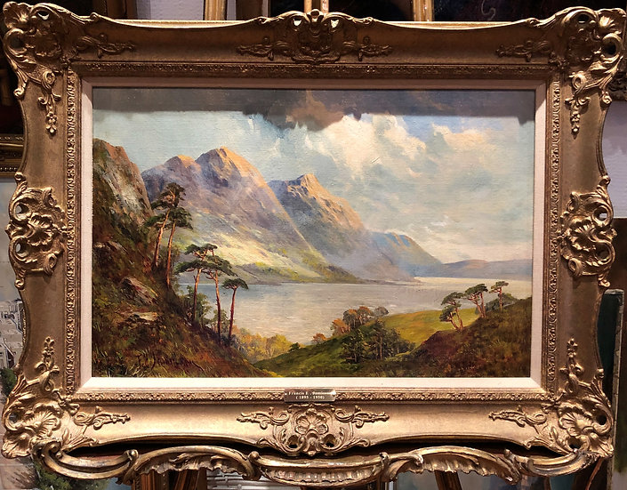 LARGE FINE F E.Jamieson Antique 19th Century British OLD MASTER OIL PAIN
