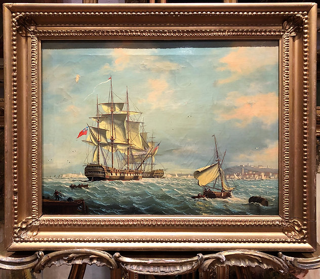 FINE OIL PAINTING BY William Anderson (1757 - 1837) BRITISH OLD MASTER PIECE