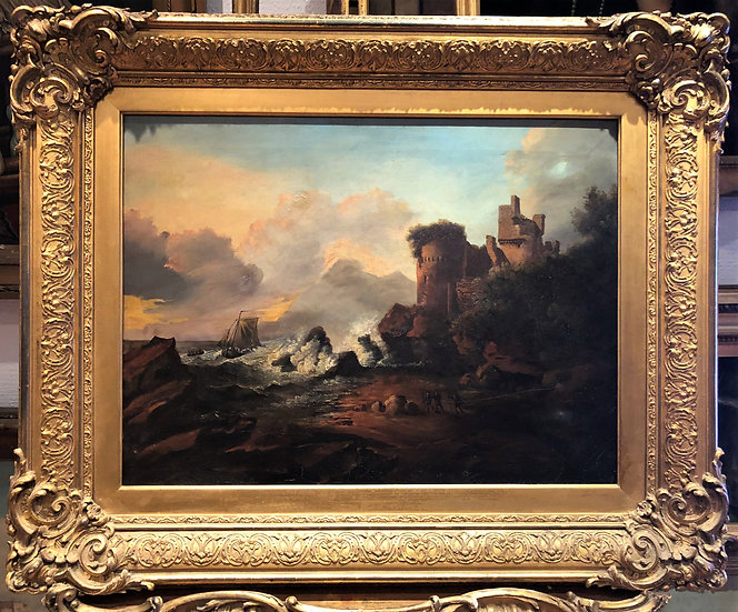 OLD MASTER ATTRIBUTED To J . E. MEADOWS 19th CENTURY OIL PAINTING