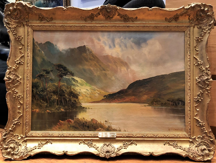 Fine Large Original Antique 19th Century British OLD MASTER OIL PAINTING Scene