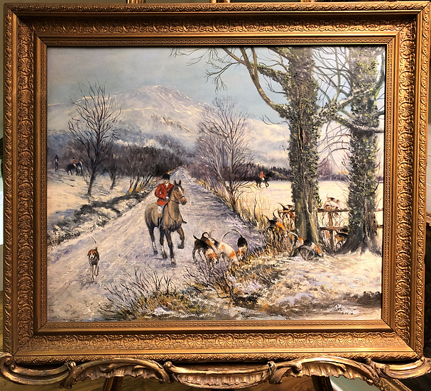 FINE ORIGINAL ARTIST EARLY 1920's/30's BRITISH OLD MASTER OIL PAINTING