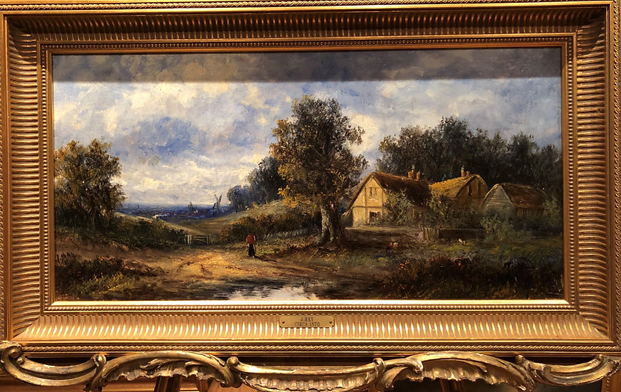 OLD MASTER CIRCLE of JOHN CONSTABLE FINE OIL PAINTING 19th CENTURY GOLD FRAME