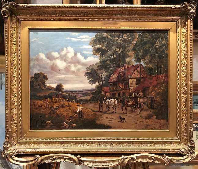 FINE OIL PAINTING Signed & dates 1888 19th CENTURY BRITISH OLD MASTER PIECE