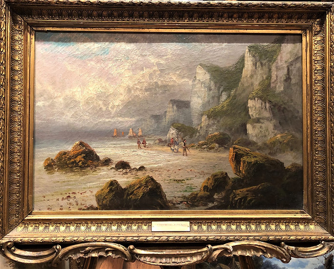 OIL PAINTING FINE MASTER PAINTER CIRCA 19th Century PIECE British Romantic Scene