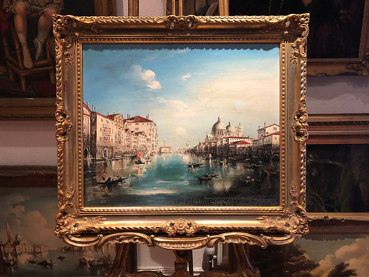 OIL PAINTING VENICE MASTER LARGE CIRCA EARLY MID 20TH CENTURY RUSSIAN SCHOOL