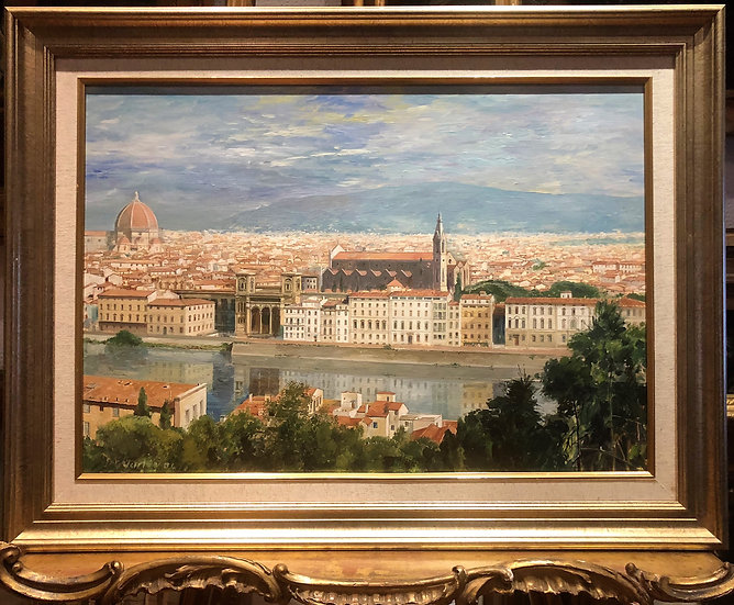 OIL PAINTING FLORENCE MASTER LARGE CIRCA MID 20TH CENTURY BRITISH SCHOOL FRAMED