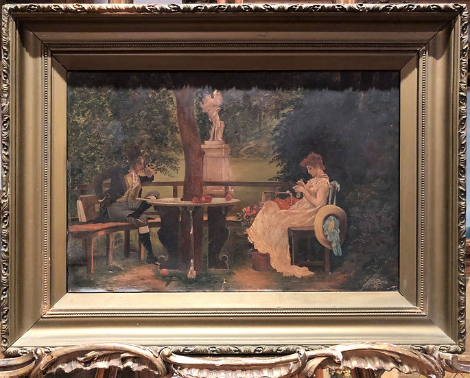 OIL PAINTING OLD MASTER MARCUS STONE in Love FINE 19th CENTURY BRITISH SCHOOL