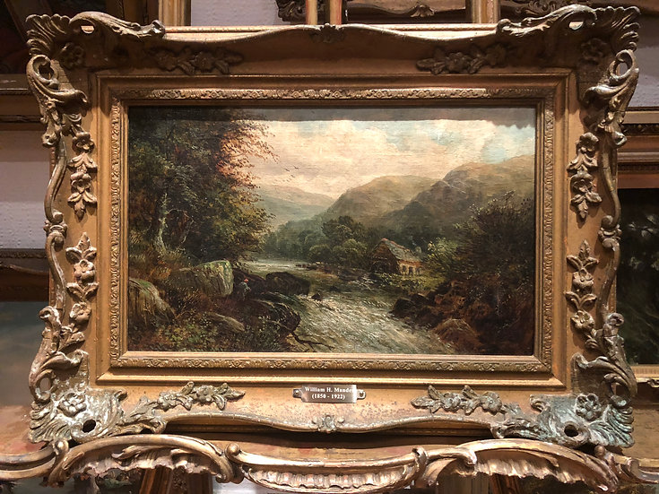 FINE W H . Mander ORIGINAL ANTIQUE 19th CENTURY BRITISH OLD MASTER OIL PAINTING