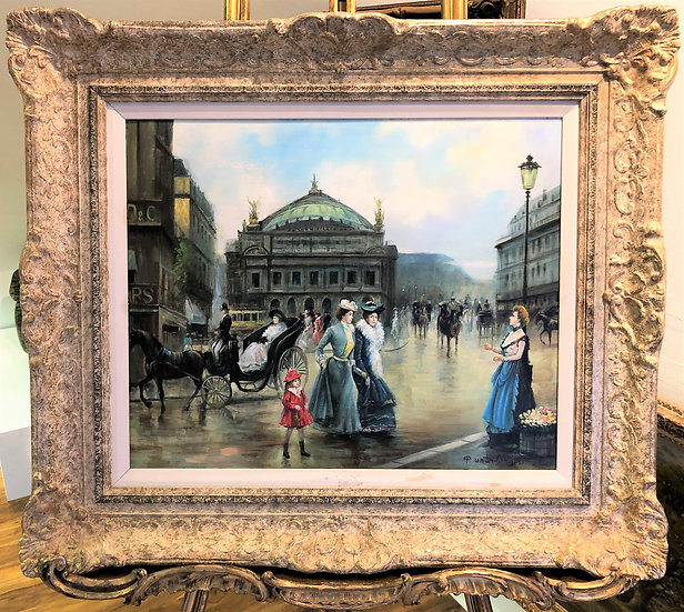 OIL PAINTING By A FINE IMPRESSIONIST ARTIST 20th CENTURY IN A GOLD FRAME