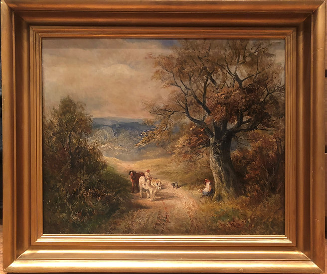LARGE OLD MASTER IMPRESSIONIST OIL PAINTING 19th CENTURY English School Piece