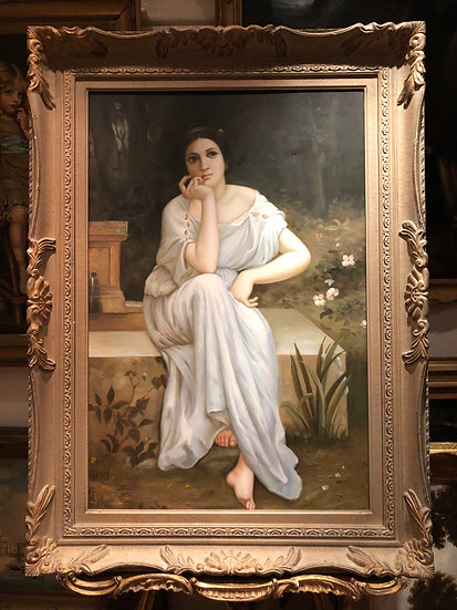 HUGE OIL PAINTING OLD LARGE BRITISH SCHOOL 20th CENTURY STYLE  BEAUTIFULLY EX