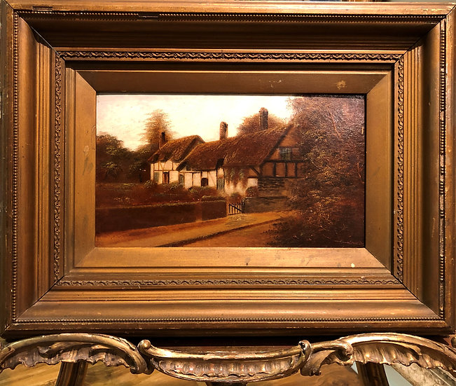 ANNE HATHAWAY'S COTTAGE FINE ORIGINAL ANTIQUE 19thCentury British