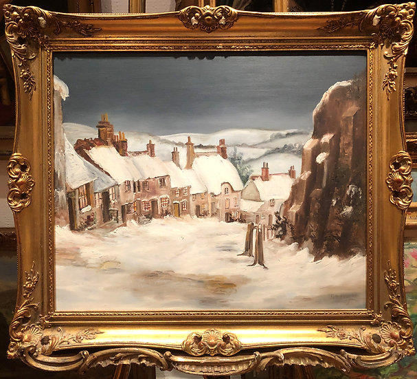 OIL PAINTING BY RENOWNED Artist PAT LANGTON B1931 19th CENTURY STYLE GOLD FRAME