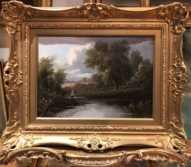 FINE ORIGINAL ARTIST E . Horton 19th CENTURY BRITISH OLD MASTER OIL PAIN