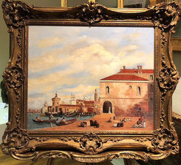 OIL PAINTING LARGE VENICE MASTER  CIRCA  MID 20TH CENTURY FRENCH SCHOOL