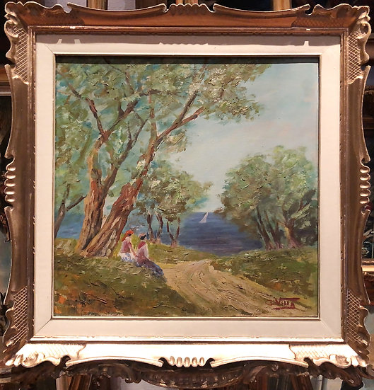 OIL PAINTING FRENCH By A FINE IMPRESSIONIST ARTIST 20th CENTURY WONDERFUL FRAME
