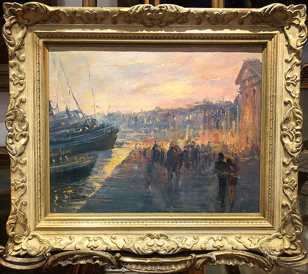 OIL PAINTING By A FINE IMPRESSIONIST ARTIST 20th CENTURY IN A WONDERFUL FRAME