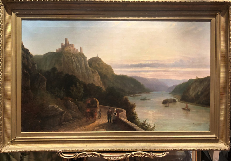 HUGE OIL PAINTING OLD MASTER FINE EARLY 19th CENTURY