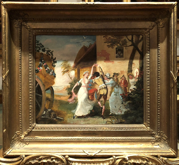 OLD MASTER PAINTING 18th CENTURY Circle of FRANCIS WHEATLEY RA Gold Gilt Frame