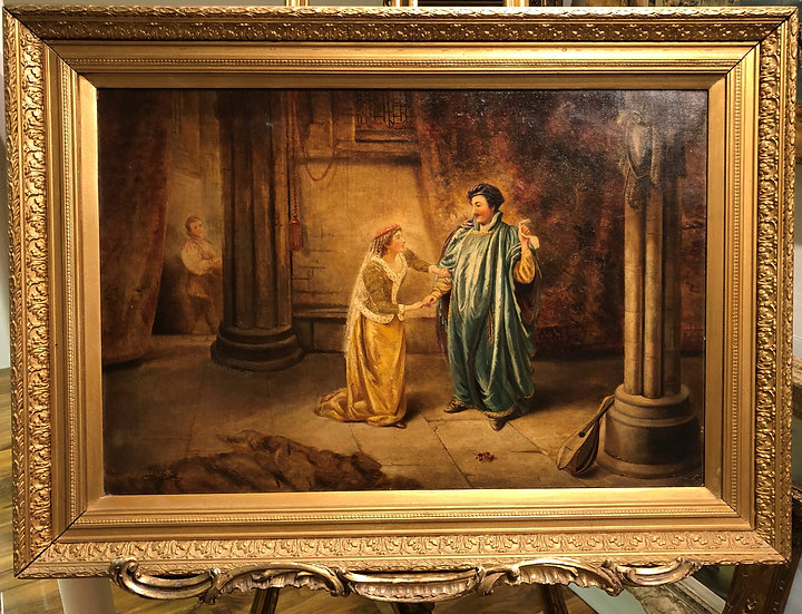 LARGE FINE Antique 19th Century British OLD MASTER OIL PAINTING