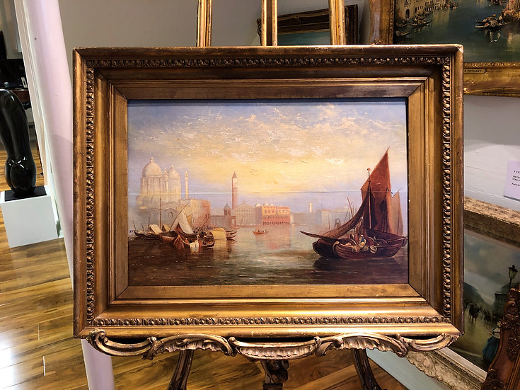 OIL PAINTING OLD MASTER of Venice 18th / 19th CENTURY in a GOLD GILT FRAME