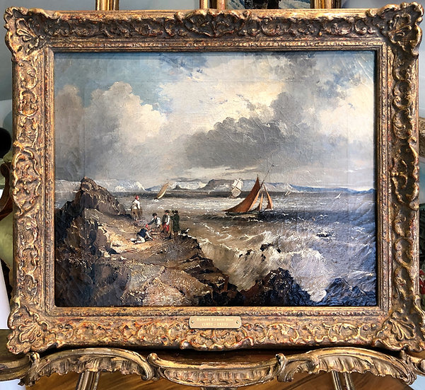 VERY RARE Oil PAINTING Antique 19th Century By Listed artist British old master