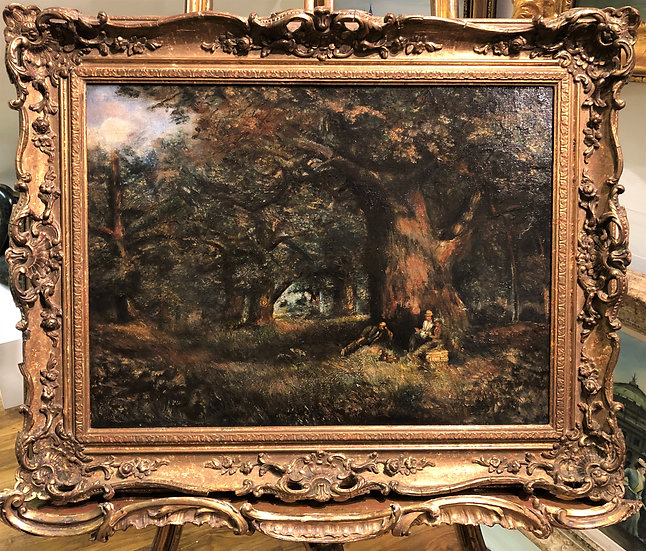 OLD MASTER CIRCLE of JOHN CONSTABLE LARGE OIL PAINTING 19th CENTURY GOLD