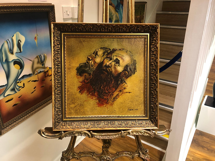 OIL PAINTING Circa 1970 J. HARMAN 20th CENTURY IN A GOLD FRAME