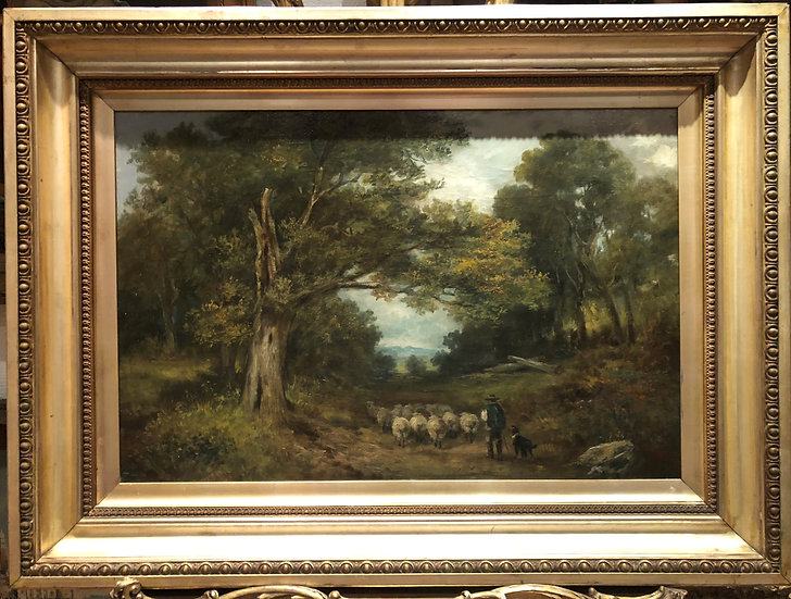 OLD MASTER CIRCLE of JOHN CONSTABLE HUGE OIL PAINTING 19th CENTURY GOLD FRAME