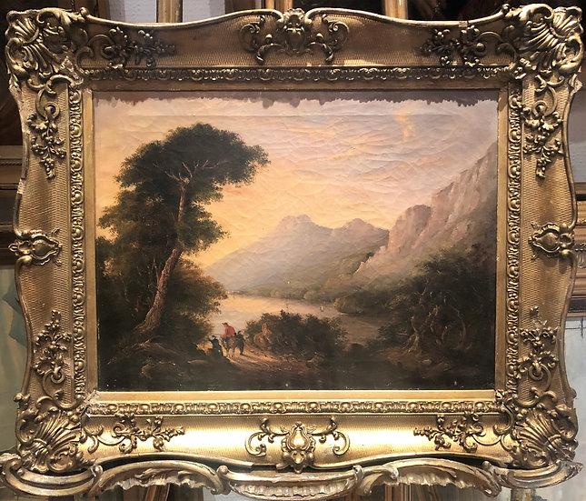 OIL PAINTING OLD MASTER JOHN GLOVER (1767- 1849) FINE 18th CENTURY BRITISH