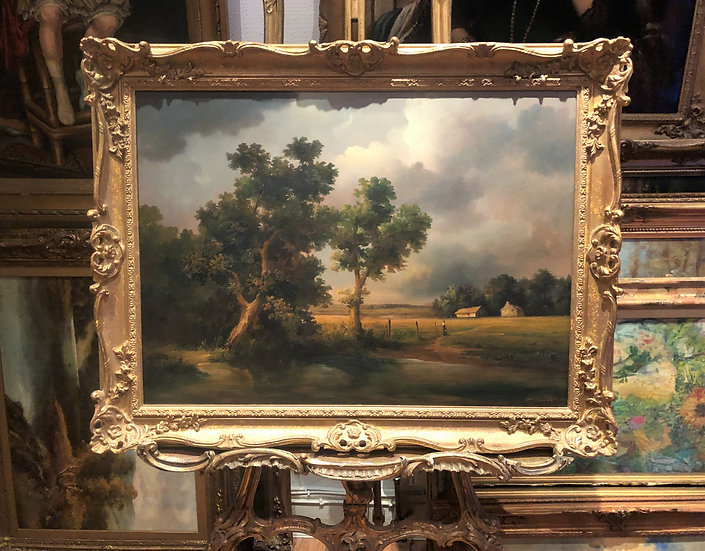 OIL PAINTING BY RENOWNED FRENCH Artist 19th CENTURY STYLE